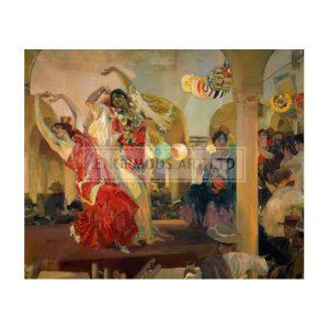 SOR001 Women Dancing Flamenco in the Cafe Novedades