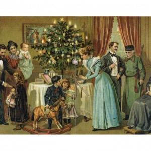 XMA001 Die Familie, Christbaum – Bookplate