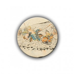Brooch: The Battle of Agincourt, Illustration