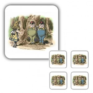 Coaster Set: Alice Meets Tweedledee & Tweedledum