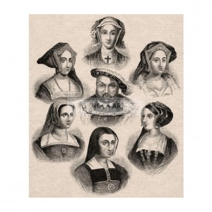 ANO007 Henry VIII and his Wives (black and white)
