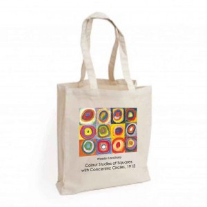 Canvas Bag: Colour Studies of Squares with Concentric Circles, 1913