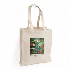 Canvas Bag: Houses in Unterach on Attersee
