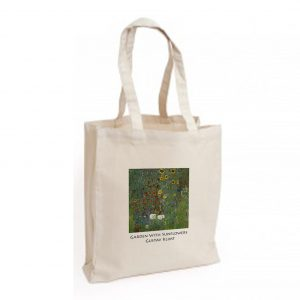 Canvas Bag: Garden with Sunflowers