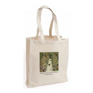 Canvas Bag: Garden Path with Chickens
