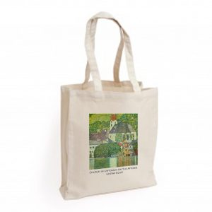 Canvas Bag: Church in Unterach on the Attersee