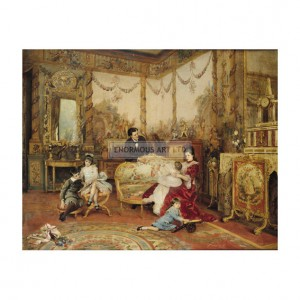 BRE001 Victorien Sardou and Family in Drawing Room