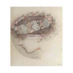 BUR016 Study for the Head of Cupid 1865