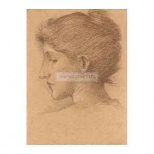 BUR022 Study of a Female Head 1870