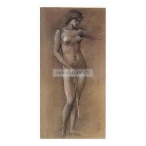 BUR026 Study of a Standing Nude for Minerva 1877