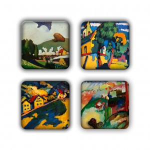 Coaster Set: Kandinsky Group 6
