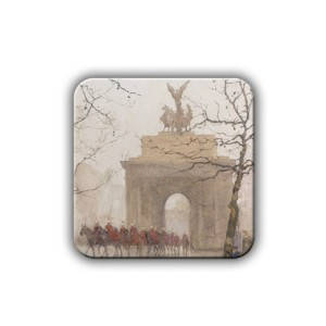 Magnet:  Wellington Arch, with Household Cavalry