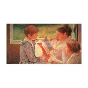 CAS002 Mrs Cassatt Reading to Grand-Children