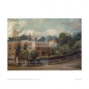 CON012 View of Lower Terrace, Hampstead, 1822