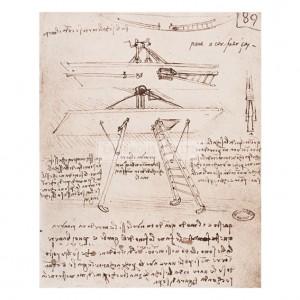 DAV057 Flying Machine Drawing