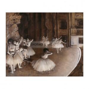 DEG058 Ballet Rehearsal Onstage, 1874