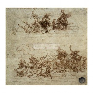DAV052 Studies of Moving Figures for the Battle of Anghiari