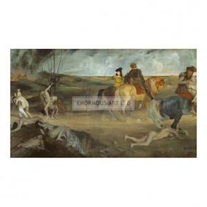 DEG048 Medieval War Scene, 1865