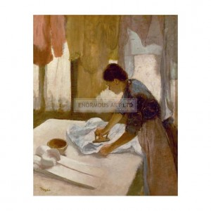 DEG021 Servant Girl Ironing a Shirt