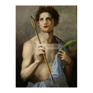 SAR002 St. Sebastian Holding Two Arrows and the Martyr's Palm
