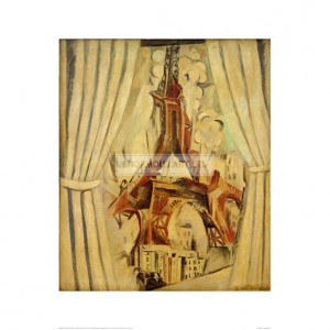 DEL027 Eiffel Tower with Curtains, 1910