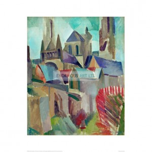 DEL062 The Towers of Laon Study, 1912