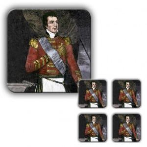 Coaster Set: Duke of Wellington, Woodcut
