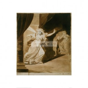 FUS284  Lady MacBeth as a Sleepwalker , 1781