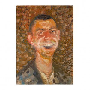 SP025 Richard Gerstl Self Portrait Laughing 1908