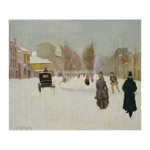 GOE001 French Street Scene with Snow
