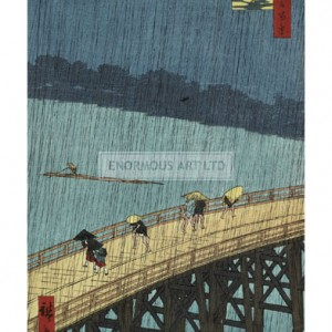 HIR005 Ohashi Bridge in the Rain, 1857