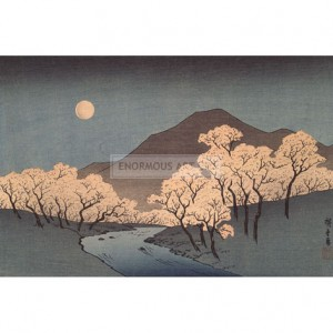HIR002 River Landscape with Rising Moon, 1840