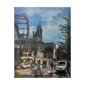 Wardle, John – Sheffield Town Hall After Rain (Original)