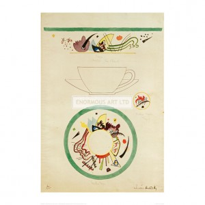 KAN087 Sketch for a Cup and Saucer, 1920