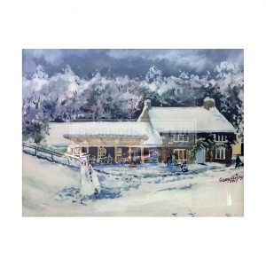 Kersey, Gerry – Forge Dam Cafe in the Snow (Original)