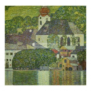 KLI075 Church in Unterach on the Attersee, 1916
