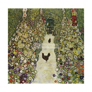 KLI073 Garden Path with Chickens, 1916