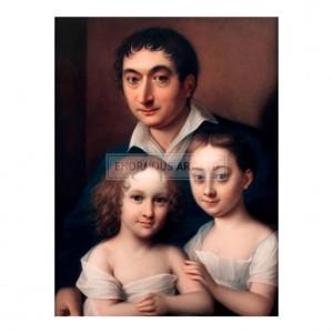 LAU002 Franz Dominik Brentano with his Daughters