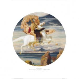 LEI002 Perseus on Pegasus with the Head of Medusa