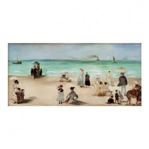 MAN054 Beach at Boulogne Sur Mer, 1868