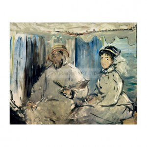 MAN017 Claude and Camille Monet Painting, 1874