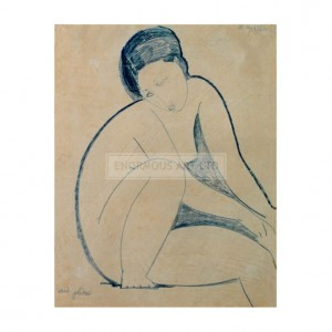 MOD007 Seated Nude, Face Covered