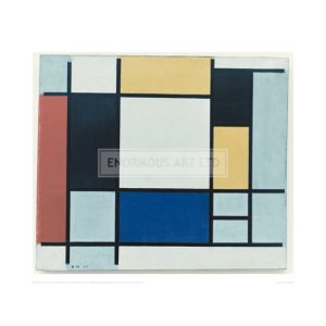 MON003 Composition with Yellow, Red, Black, Blue and Grey, 1920