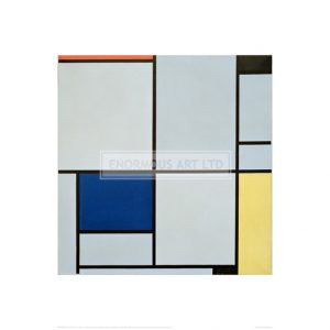 MON038 Tableau I; Composition with Red, Black, Blue and Yellow, 1921