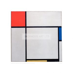 MON040 Composition with red, blue, yellow and black, 1929