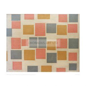 MON053 Compositie No. 3; Composition with coloured surfaces 3, 1917