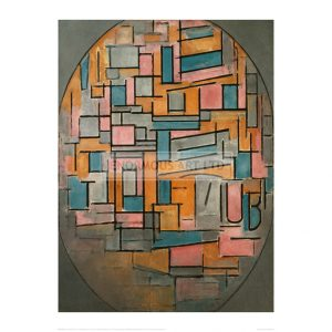 MON055	 Composition in oval with coloured surfaces 2, 1914