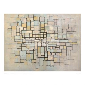 MON058 Composition No. II; Composition with lines and colour, 1913