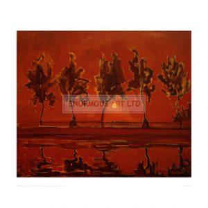 MON060 Trees on the Gein: Moonrise, 1908