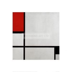 MON064 Composition with red and black (Composition no. 1), 1929